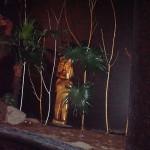 En maya-staty