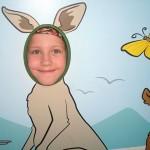 Va? Blev Anna en känguru? Vi såg även riktiga kängurus