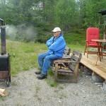 Morfar röker fläsk