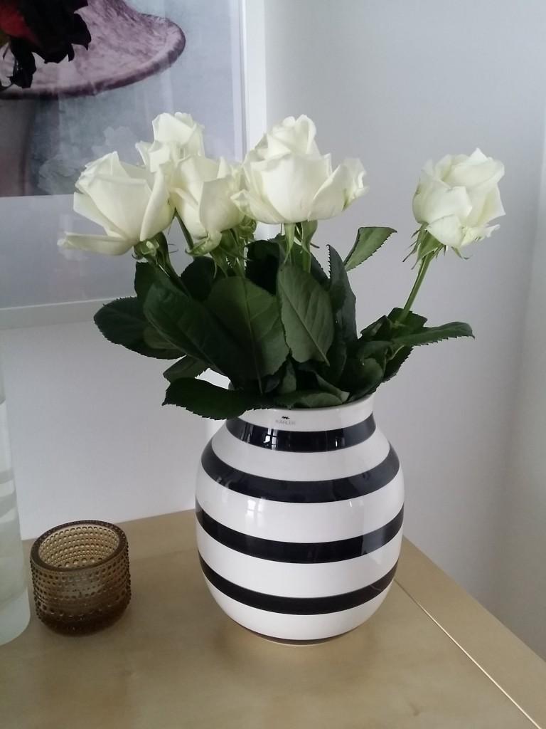 Vackra rosor fick hon från sin käre make